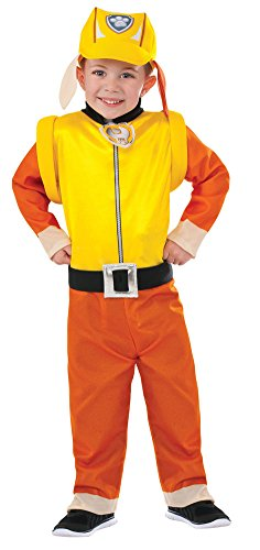 Paw Patrol Halloween Costumes Rubble (Girls Halloween Costume- Paw Patrol Rubble Kids Costume Small 4-6)
