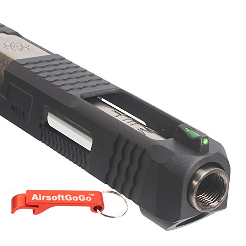 AirsoftGoGo Llavero Incluido Plata, Ca/ñon Custom Slide S Type para WE G34 Airsoft GBB