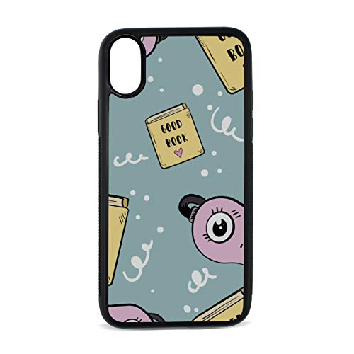 Eye Bag Hand Drawn Cartoon Cute Digital Print TPU Pc Pearl Plate Cover Phone Hard Case Cell Phone Accessories Compatible with Protective Apple Iphonex/xs Case 5.8 ()