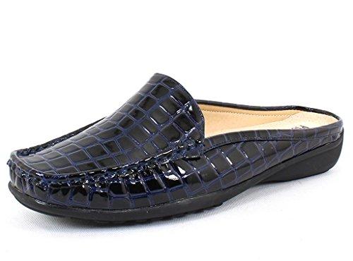 Pierre Dumas Kvinners Hassel 23 Marineblå Krokodille Syntetisk Uformell