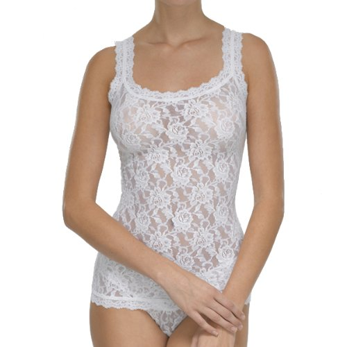 (Hanky Panky Women's Signature Lace Classic Camisole White Large)