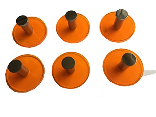 Hook Orange (KOLACEN Heavy Duty Acrylic and 304 Stainless Steel Round 3M Strong Sticky Adhesive Hooks Wall Hanger for Towel Clothes Coats Hats Bags Kitchen Bathroom Orange Pack of 6)