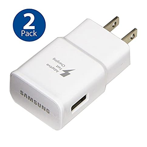 - 41BjxM42gvL - Original Samsung Adaptive Fast Charging Wall Adapter for Galaxy Galaxy S8 S9 Plus Note 8 (2 PACK)