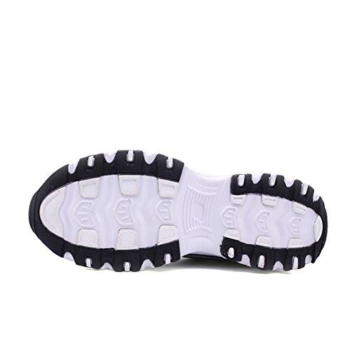 Zapato De Running De Goma Suave, Cómodo Zapato De Hombre Elegante, Zapato De Hombre Transpirable, Calzado Deportivo Para Caminar Walking Blackwhite