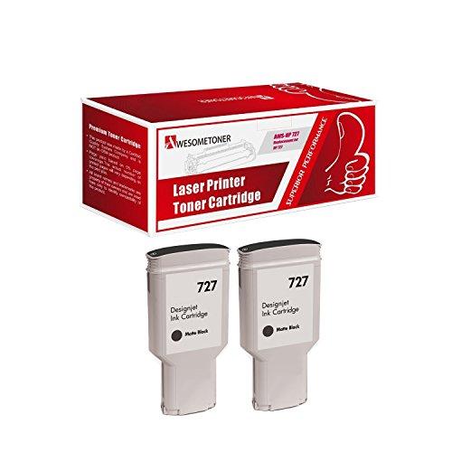 AwesomeToner 2 PK Compatible Ink cartridge for HP 727 B3P22A HP DesignJet T920 T930 High Yield Matte Black (Designjet 130 Inkjet Printer)
