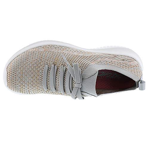 Zapatillas Sin Para Gris Topo Cordones dorado Ultra gold Flex salutations Skechers taupe Mujer qwStST