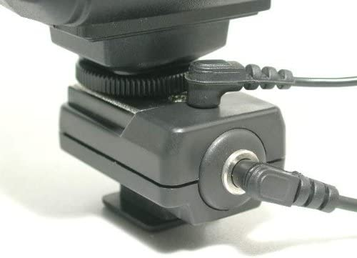Gadget Place Flash PC Sync Terminal Connector Hotshoe Adapter for Nikon D3500 D3400 D5600