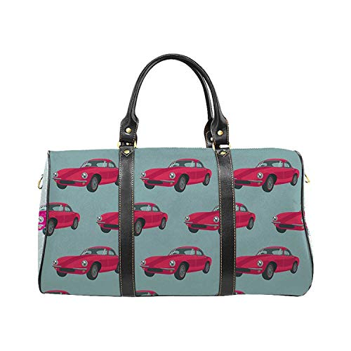 Cars Personal Travel Bag,Vintage Red Vehicles Retro