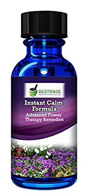 Instant Calm Flower Essences to Reduce Anxiety a Natural Stress Relief Product that Promotes Calmness and Focus