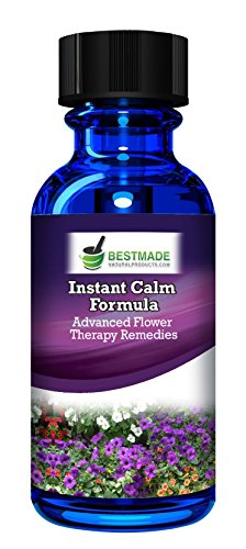(Instant Calm Formula Advanced Flower Therapy Remedies 30mL, Formulated to Reduce Anxiety, A Natural Stress Relief Product That Promotes Calm and Focus)