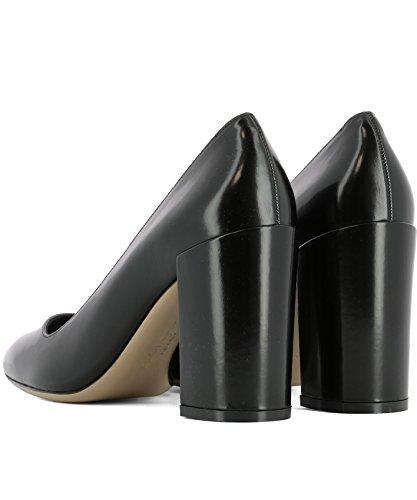 Ferragamo Cuir Noir Femme Escarpins 0670956 Salvatore PTdFzqP