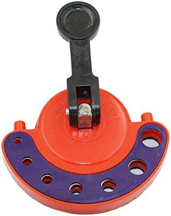 Artensky Tile Glaslochsäge Bohrkronenführung Positionieröffnungen Sauger Vakuum Basis Einstellbar 4-12mm