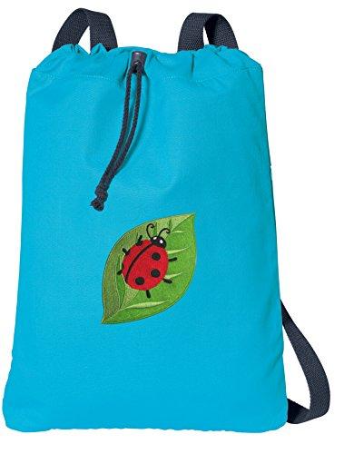 - Broad Bay Ladybug Drawstring Backpack 100% COTTON Ladybugs Cinch Bag