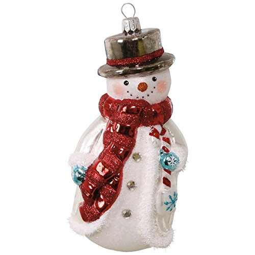 Jolly Snowman Blown Glass Ornament Snowmen (Snowman Collection Ornament)