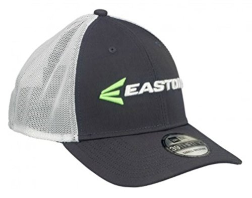 Easton Mens Gameday Hat M7 Linear 39Thirty Curved Bill Cap, Char/Grn/Wht A167906 ()