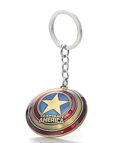 Gold America Shield (SEEAN Marvel Avengers Keychain Collection US Seller (Captain America Shield (Gold)))