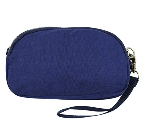 Cell resistant Crossbody Bag Dark Phone Water Wallet Purse Nylon Women Shoulder Small Clutch Wristlet Blue q8Bf5xwg