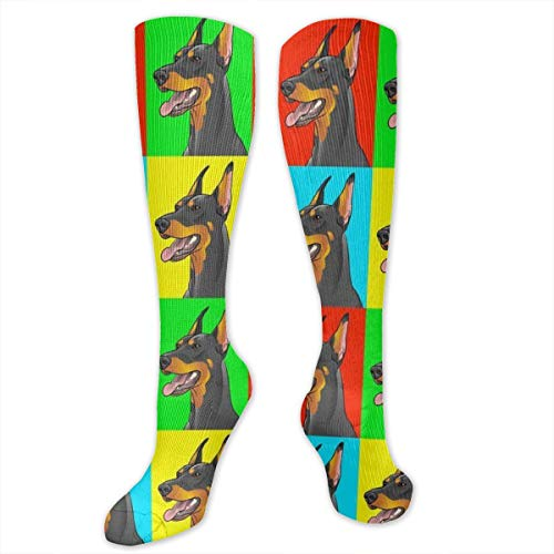 - Unisex Colorful Funny Casual Socks (Doberman Pinscher Dogs,15.7 Inches)