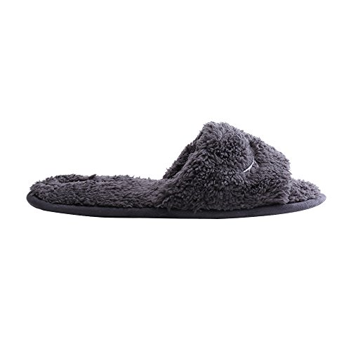 WILLIAM&KATE Plush Slipper for Women House Slipper Women's Open Toe Causal Shoes Grey gxXgWG6DV