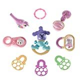 9pcs Baby Rattles Toys, Infant Shaking Bell Rattle Toys Musical Toy BPA Free Best Gift for Infant 0, 3, 6, 9, 12 Month Old and Newborn Baby, Candy Colors