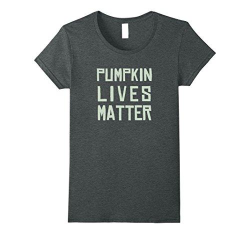 Womens Pumpkin Lives Matter - Funny Halloween Costume Shirt Medium Dark Heather