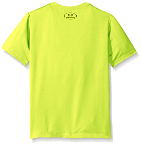 Under Armour Big Logo Surf Shirt Little Boys' Short Sleeve Rashguard, Hi Gh/Vis Yellow, 5 rash guard under armour 3