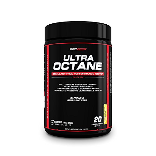 Ultra Octane V2 – #1 NEW Advanced, Clinically Dosed Non Stimulant Caffeine Free Pre Workout & Nitric Oxide Powder *Pick Flavor* 350 grams (20 Servings Mango (V2)) Review