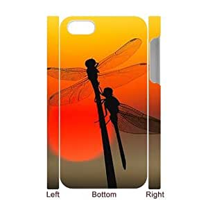 Dragonfly Unique Design 3D Cover Case for Iphone 4,4S,custom cover case ygtg631164
