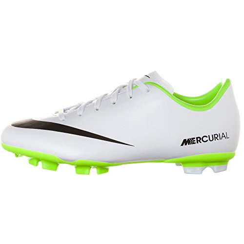 Nike JR Mercurial Victory IV FG Junior Fussballschuhe white-black-electric green - 33
