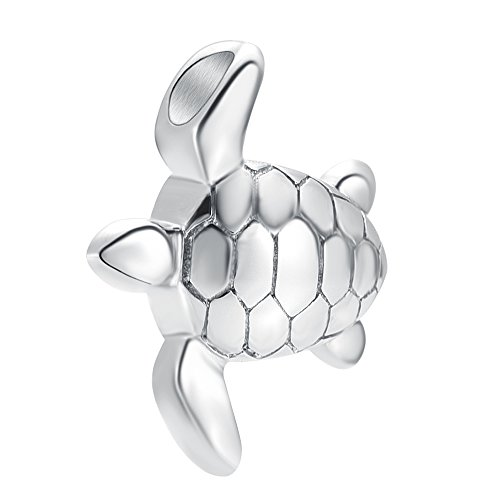 Stainless Steel Small Turtle Design Urn Pendant for Ashes Keepsake Necklace Cremation Jewelry Urns Clay Turtle Jewelry Box