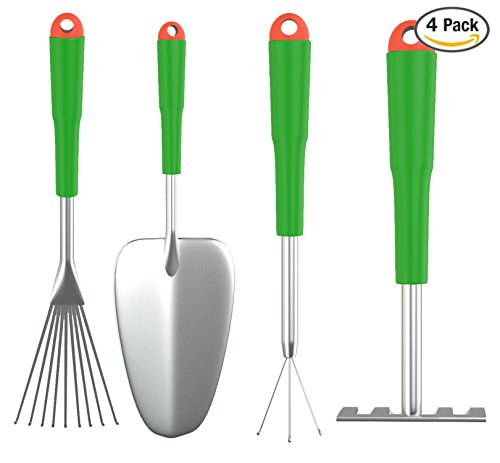 4-Piece Gardening tool set that is perfect for container gardening.