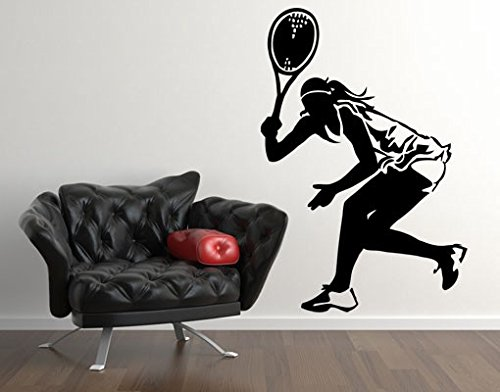 Wall Decal Tennis Player II, Color: Aubergine, 58.3x39.4 by PPS. Imaging GmbH (Image #2)