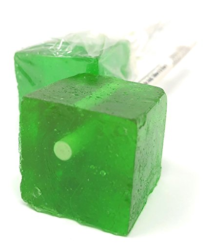 Hard Candy Cube Lollipop Suckers: Individually Wrapped Flavo