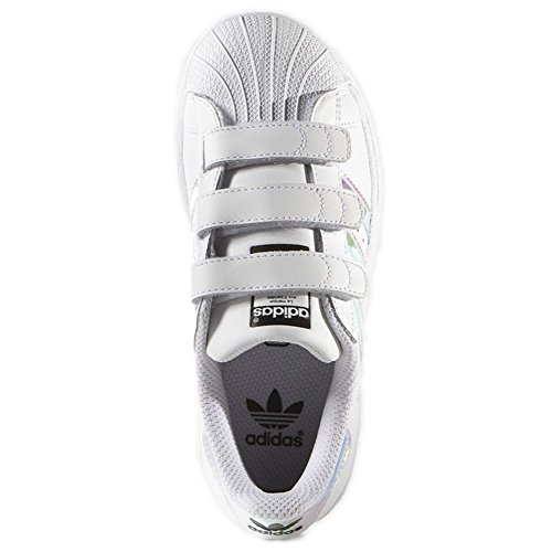 Image of the adidas Originals Superstar CF C White/Iridescent Leather 11 M US Little Kid