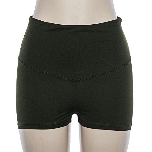 Alta Army Vita Moda Skinny Da Estivo Green Yoga Running Shorts Tinta Donne Unita A Pants XYaq1