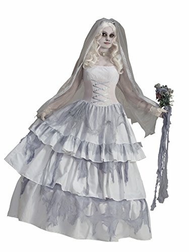 Forum Novelties Women's Deluxe Victorian Ghost Bride Costume, Multi, One Size]()