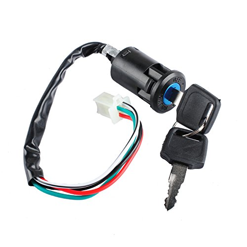 Wahoo Atv Parts - Poweka 50cc Ignition Switch with Key for ATV Quad Dirt Bike Electric Scooter 70cc 90cc 110cc 150cc 200cc 250cc