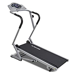 MaxKare Manual Treadmill Folding Treadmills Machine for Home Use Walking with Incline Heart Pulse and 8 Levels of Magnetic Resistance