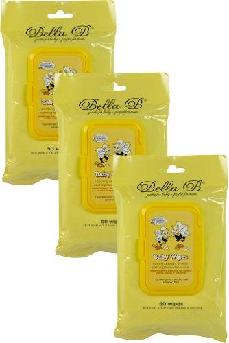Bella B 3 Piece Soothing Baby Diaper Wipes Bundle