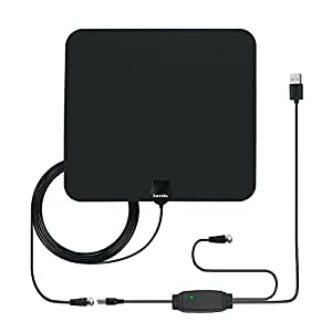 HDTV Antenna, Lavida Paper-thin Indoor Digital Antenna, High-Gain Amplifier 50 mile long range, 10ft Coaxial Cable, 2017 Updated Version Better Reception of Signal