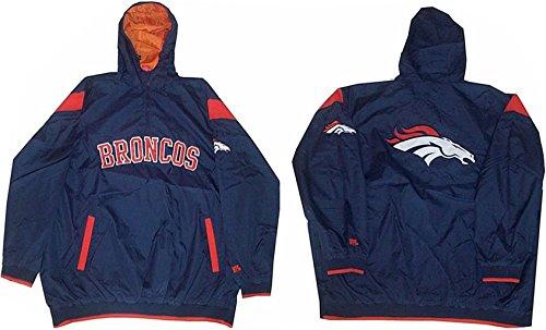 VF Imagewear Denver Broncos NFL Mens 1/4 Zip Windbreaker ...