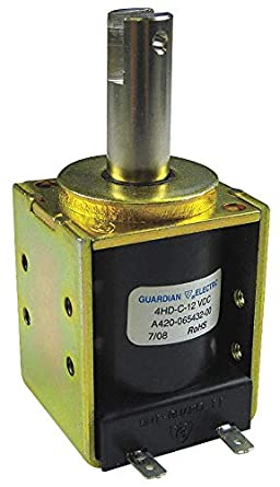 Continuous Duty Pull Type 12VDC GUARDIAN Electric Solenoid Box Frame
