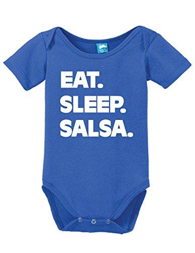 (Sod Uniforms Eat Sleep Salsa Printed Infant Bodysuit Baby Romper Royal 18-24 Month)