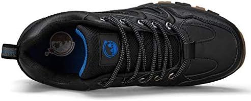メンズレザーハイキングシューズ軽量低トレイルアスレチックスキャンプ登山トレーニングスポーツスニーカーウォーキングアウトドアシューズをウォーキング (Color : Black, Size : 8.0UK)