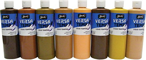 Sax Versatemp Tempera Paint, 1-Pint, Multicultural, Set of 8