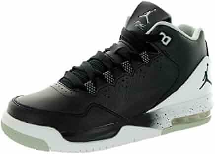 71f3cd23357 Jordan Nike Kids Flight Origin 2 Bg Black Black White Grey Mist Basketball