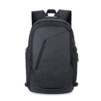 Mochila para viaje portátil con bolsa de viaje USB, compartimento para auriculares y cerradura,
