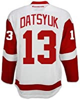 Pavel Datsyuk Detroit Red Wings Reebok Premier Away Jersey NHL Replica