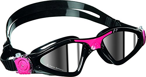 Aqua Sphere Kayenne Ladies with Mirrored Lens (Black/Pink) Swim Goggles for Women. by Aqua Sphere (Image #1)