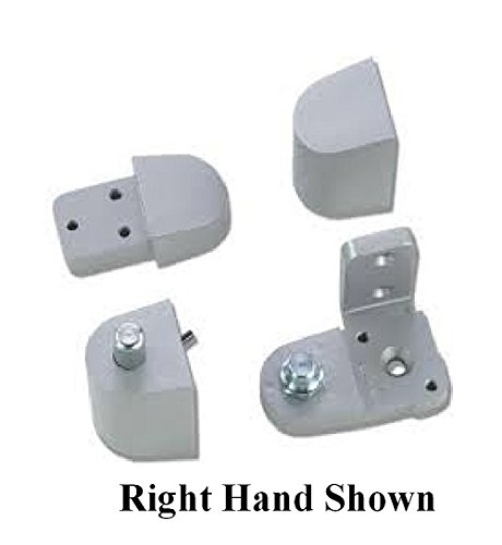 Pittco / PPG Style Aluminum Storefront Door Pivot Hinge Set - Choose Handing & Finish (Right Hand in Aluminum)